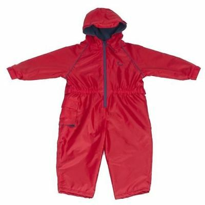 Hippychick All in One Toddler Waterproof Suit Red Fleece Lined 12 - 24 Months