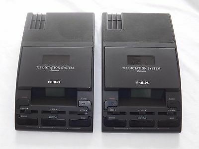 2 x Philips LFH 725  Transcriber / Dictaphone