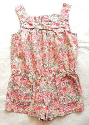 BONPOINT GIRL'S Floral PLAYSUIT JUMPSUIT SHORTS  AGE 6 4-5-6y