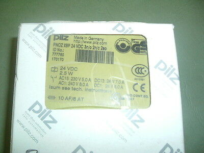 Pilz Pnoz....... X8P 24 Vdc ............safety Relay Part No 777760 New Packaged