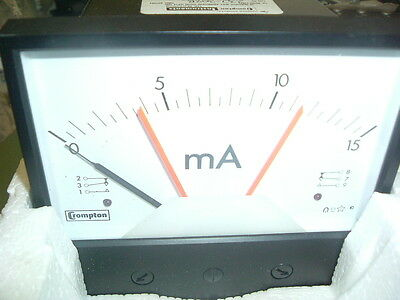 Crompton Instruments 237 302B 0-15Ma Panel Meter....new................ Packaged