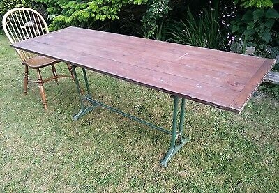 industrial rustic iron pine table