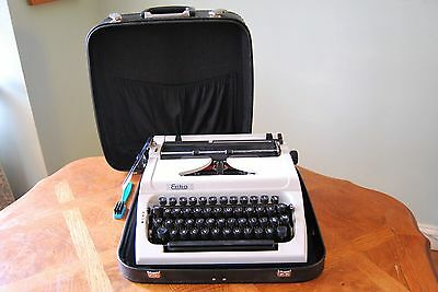 Vintage Erika Model 155 Typewriter Fully Working with Case and Ribbons