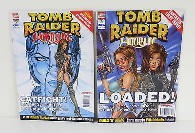 Tomb Raider WITCHBLADE by Marvel Comics Issues 1 & 2 Bundle (Paperback, 1999)