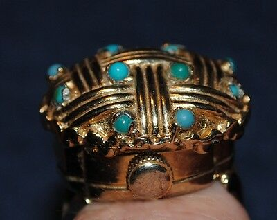 Ring watch esprit 17 rubis with stones vintage rare collectable ringwatch