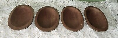 4 Small Oval Wood Wooden Woodcroftery Bowls