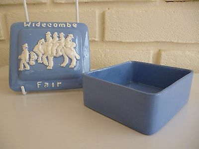 Dartmouth Pottery Widecombe Fair Butter Dish Vintage
