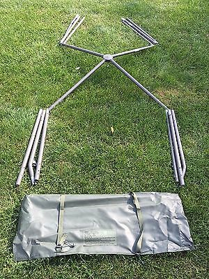 GENUINE US MILITARY 10' x 10' SOLDIER CREW COMBAT SHELTER TENT FRAME SYSTEM NOS