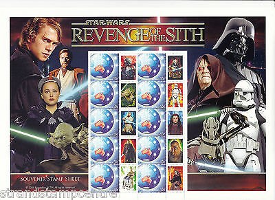 2005 - Star Wars - Revenge Of The Sith Australia Post Smilers Sheet