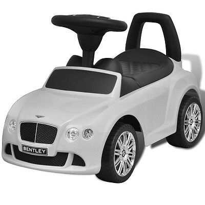 S#Bentley Foot-Powered Kids Car White
