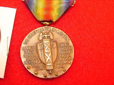 1914 - 1919 World War I Victory Medal, The Great War For Civilization