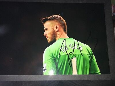 David De Gea Manchester United Hand Signed 12X8 Photo