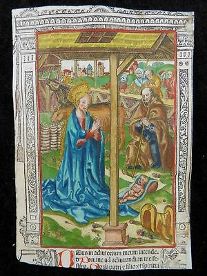 Stundenbuch Blatt Paris Simon Vostre 1510 Christi Geburt Nativity Book Of Hours