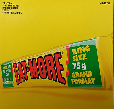 Hershey Eat More Dark Toffee Peanut Chocolate Candy Bar Canada King Size
