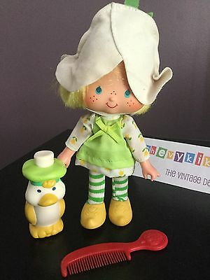 Vtg Strawberry Shortcake Doll Mint Tulip & Marsh Mallard Duck 100% Complete