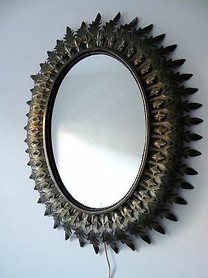 Espejosol Lampara Antiguo Vintage Metalico Dorado Metal Antique Sunburst Mirror
