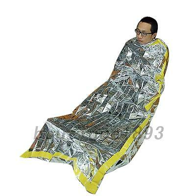 Waterproof Emergency Survival Mylar Thermal Sleeping Bag Camping Hiking Rescue