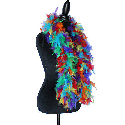 Rainbow  45 Grams Chandelle Feather Boa Dance Party Halloween Costume