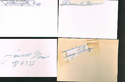 Autographes  Americains - Jeux Olympiques -Nunn-North-Northway-Nyilas -