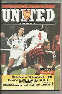 FA Vase Semi Final Tiptree United v Sudbury 2002