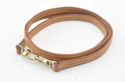 Authentic  Louis Vuitton Leather Shoulder Strap 121cm #SA025 +
