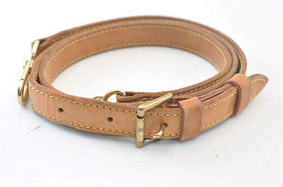 Authentic  Louis Vuitton Leather Shoulder Strap 94-112cm #SA065 +