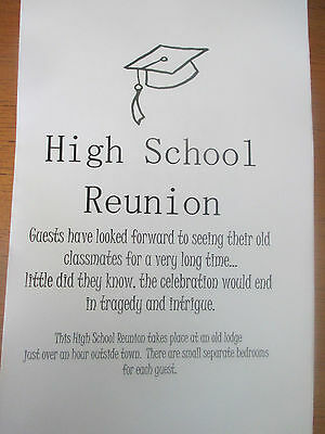 Murder Mystery Party Game for 8 people: High School Reunion Buy one get one FREE