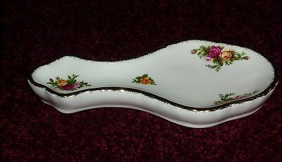 Rare Royal Albert Old Country Roses Spoon Rest 8 Inch Long 1St Quality