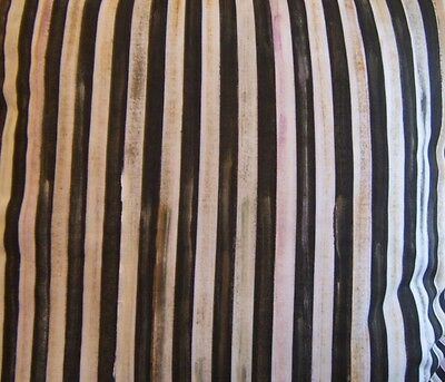 Hand Painted Dragging on STRIPE FABRIC ~ perfect accent to MacKenzie Childs