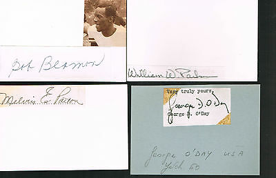 Autographes  Americains - Jeux Olympiques -Parks-Beamon-Patton-O'day -