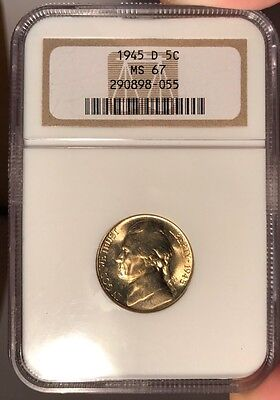1945-D 5c NGC MS 67 Jefferson Nickel
