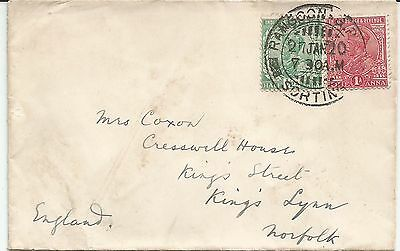 India used in Burma on 1920 cover to UK
