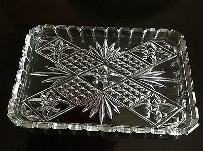 Vintage glass dressing table tray