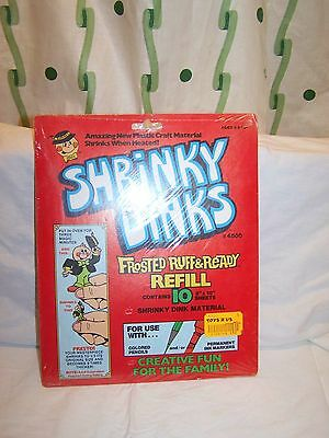 Vintage Factory Sealed Shrinky Dinks Ruff Ready Frosted Refill 10 Sheets #4500