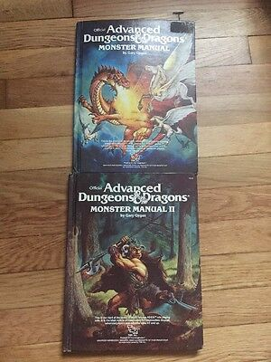 Advanced Dungeons and Dragons Monster Manual I & II Bundle  AD&D