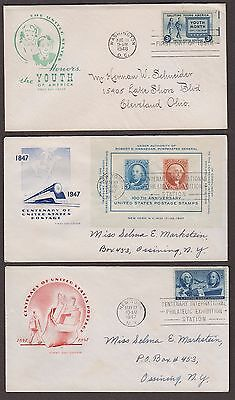 5 First Day Covers House Of Farnum Cachets 958 957 947 948 963