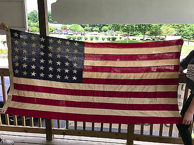 Betsy Ross Bunting American Flag 48 Stars Sewn USA Patriotic Red White & Blue