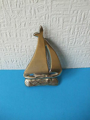 Vintage Brass Yacht Door Knocker.