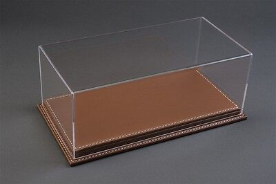 Mulhouse Display Case Vetrina W/ Brown Leather Base for 1:18 Models