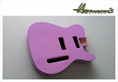 Telecaster Body for 2x P 90, Telecaster Erle Body, Finish High Gloss Purple