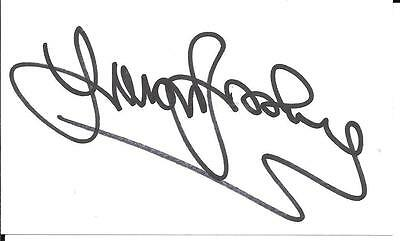 Trevor Brooking Ex West Ham & England Legend Signed White Card