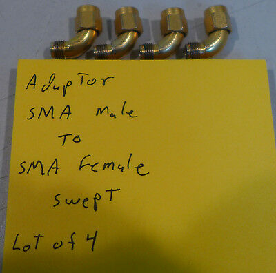 (4) Gold Adapter SMA (Male) to SMA (Female) Swept
