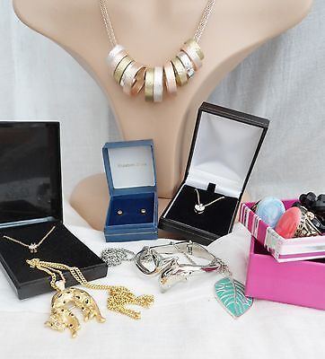 Costume Jewellery Lot Necklaces Rings