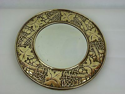 A Fine Rare Arts & Crafts Copper Mirror by W H Mawson, Keswick Home Industries.