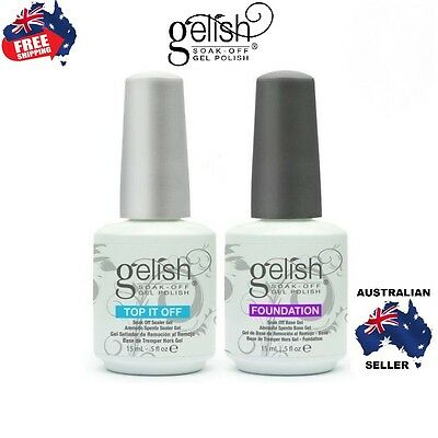 Gelish Harmony Gelish ® Soak Off Gel Nail Polish Base coat Top Coat 15ml bottle