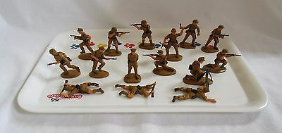 Set of 15 MATCHBOX WWII German Afrika Africa Korps Soldiers 1:32 Scale from 1978