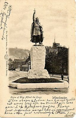 Winchester Statue Of Alfred The Great 1902 Undivided Royal Postcard Old Sampford