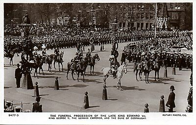 Funeral Procession Of The Late King Edward Vii 1910 Royalty Postcard Exc