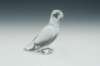 Baccarat Crystal Parrot Figurine