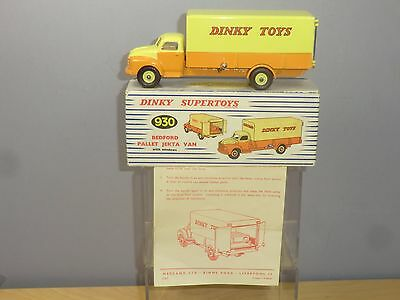 "DINKY SUPERTOYS MODEL No.930  BEDFORD PALLET  ""JEKTA "" VAN       VN   MIB"